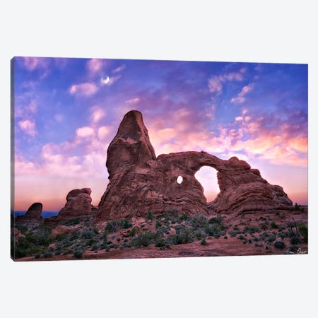 Sunset in The Desert I Canvas Print #DDR61} by David Drost Canvas Wall Art