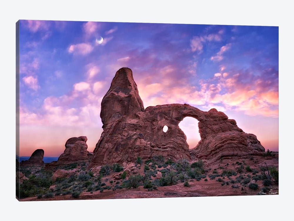 Sunset in The Desert I by David Drost 1-piece Canvas Wall Art