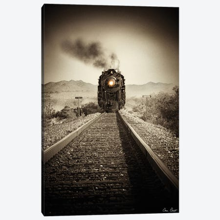 Train Arrival II Canvas Print #DDR69} by David Drost Canvas Artwork