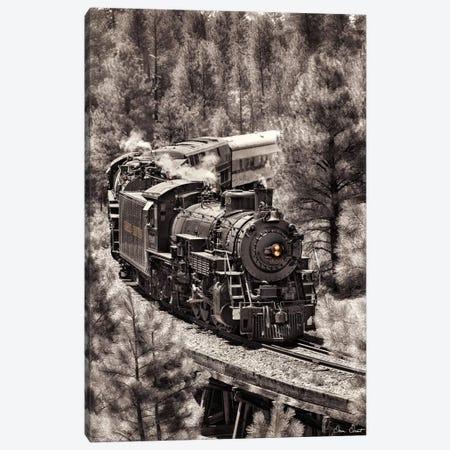 Train Arrival III Canvas Print #DDR70} by David Drost Art Print
