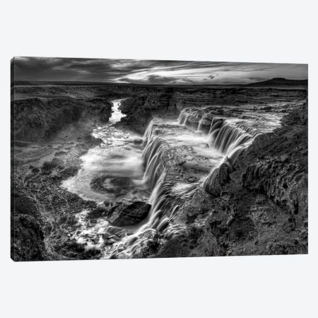 B&W Desert View II 3-Piece Canvas #DDR8} by David Drost Art Print