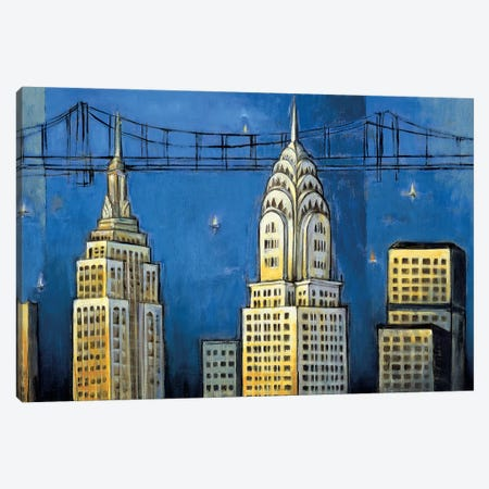 Manhattan II 3-Piece Canvas #DDS4} by David Stewart Art Print
