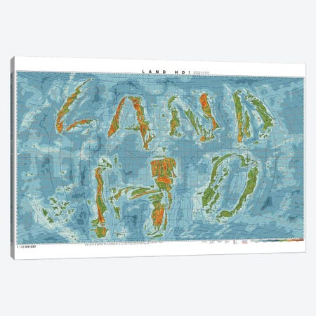 Land Ho Canvas Print #DDW12} by DAU-DAW Canvas Artwork