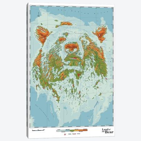 Bear Canvas Print #DDW1} by DAU-DAW Canvas Art