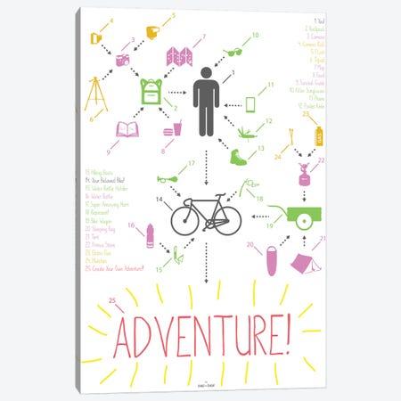 Bike Ride Adventure Guy Canvas Print #DDW23} by DAU-DAW Art Print