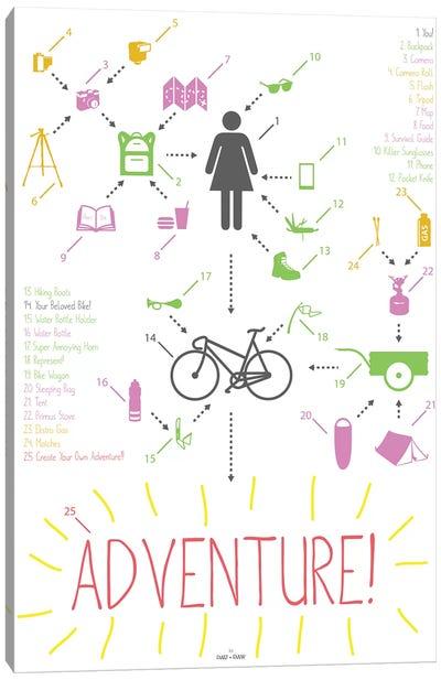 Bike Ride Adventure Woman Canvas Art Print