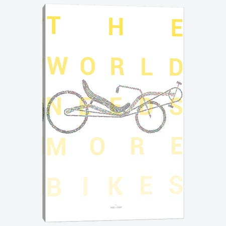 Recumbent Bike Canvas Print #DDW26} by DAU-DAW Canvas Wall Art