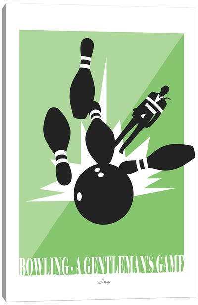 Bowling Canvas Art Print