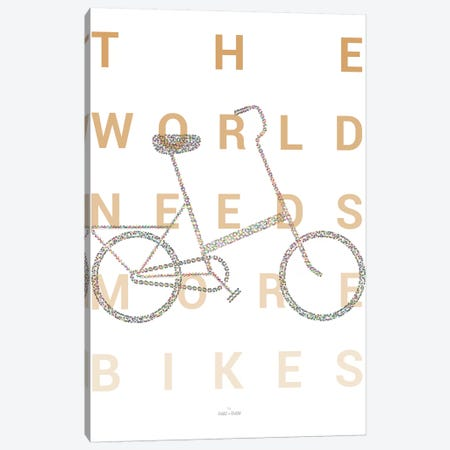 Vintage Foldable Bike Canvas Print #DDW36} by DAU-DAW Canvas Print