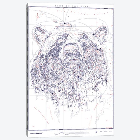 Bear II Canvas Print #DDW40} by DAU-DAW Canvas Art Print