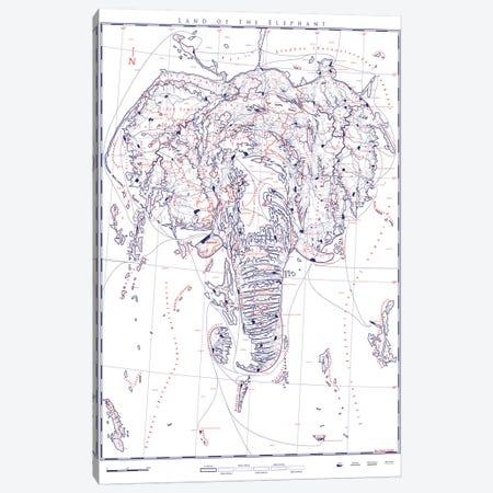Elephant II Canvas Print #DDW41} by DAU-DAW Canvas Print
