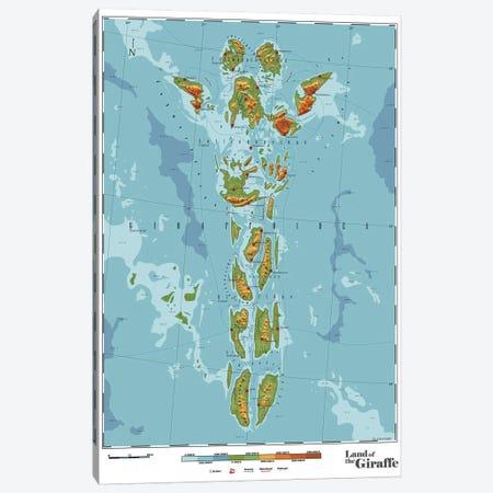 Giraffe Canvas Print #DDW47} by DAU-DAW Canvas Artwork