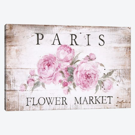 Paris Flower Market Sign Canvas Print #DEB100} by Debi Coules Art Print