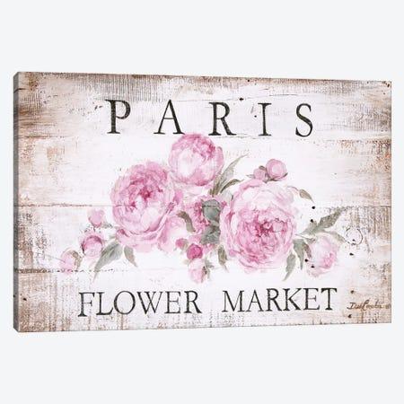 Paris Flower Market Sign Canvas Print #DEB100} by Debi Coules Art Print
