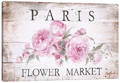 Paris Flower Market Sign Canvas Art Print