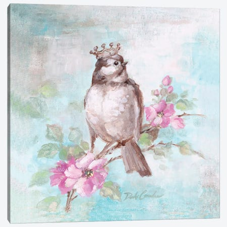 French Crown & Feathers II Canvas Print #DEB10} by Debi Coules Canvas Art