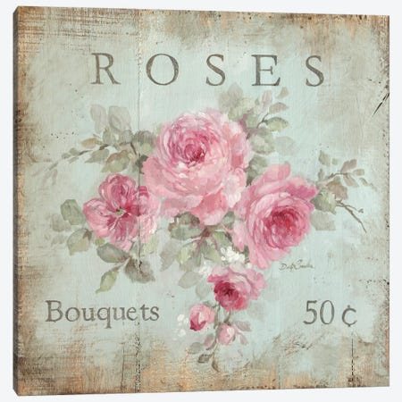 Rose Bouquets (50 Cents) Canvas Print #DEB111} by Debi Coules Canvas Art