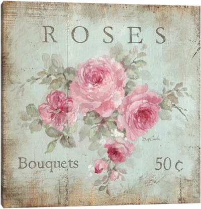 Rose Bouquets (50 Cents) Canvas Art Print