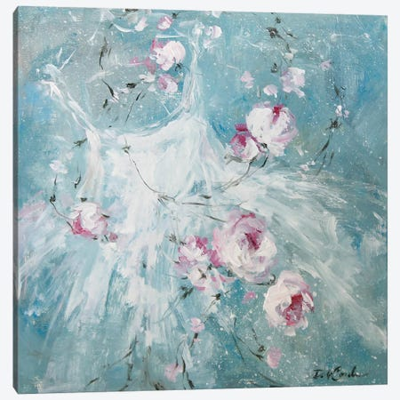 Petal Pirouette I Canvas Print #DEB119} by Debi Coules Canvas Wall Art