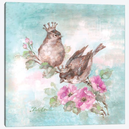 French Crown Songbirds I Canvas Print #DEB11} by Debi Coules Canvas Art