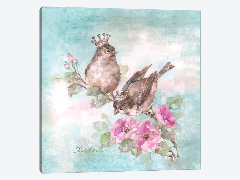 French Crown Songbirds I by Debi Coules 1-piece Canvas Art