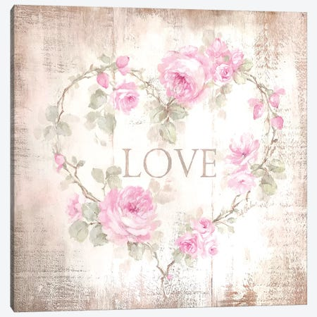Love Sign Canvas Print #DEB125} by Debi Coules Canvas Wall Art