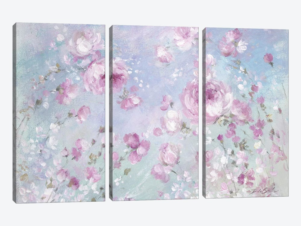 Blooming Roses by Debi Coules 3-piece Canvas Wall Art
