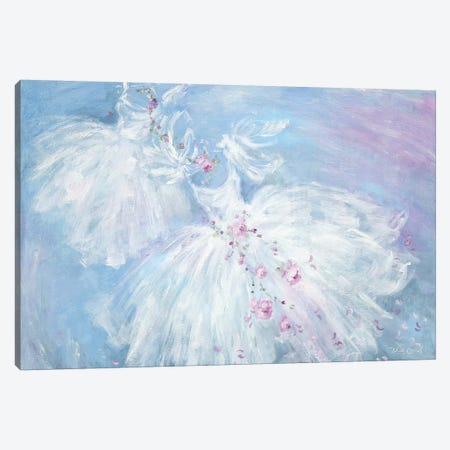 Dancing Tutus In Aqua Canvas Print #DEB127} by Debi Coules Canvas Art