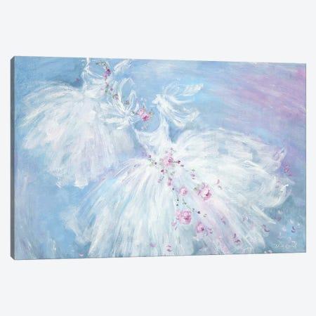Dancing Tutus In Aqua Canvas Print #DEB127} by Debi Coules Canvas Art