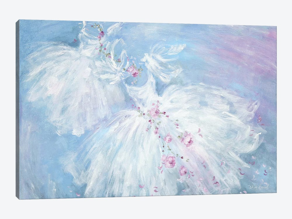 Dancing Tutus In Aqua by Debi Coules 1-piece Canvas Print