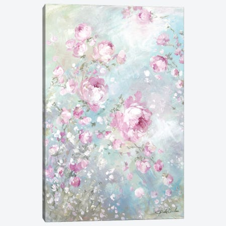 Pink Whisper Canvas Print #DEB129} by Debi Coules Art Print