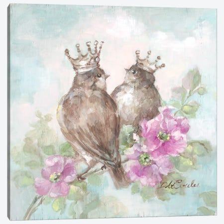 French Crown Songbirds II Canvas Print #DEB12} by Debi Coules Canvas Artwork