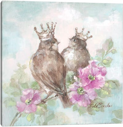 French Crown Songbirds II Canvas Art Print