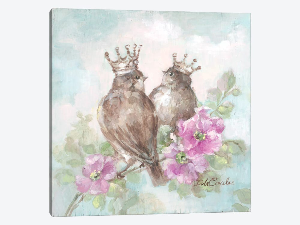French Crown Songbirds II by Debi Coules 1-piece Art Print