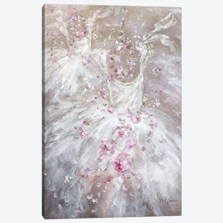 Tutu And Rose Crowns II 3-Piece Canvas #DEB132} by Debi Coules Canvas Artwork