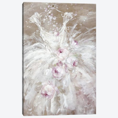 Tutu In White With Roses Canvas Print #DEB133} by Debi Coules Canvas Art