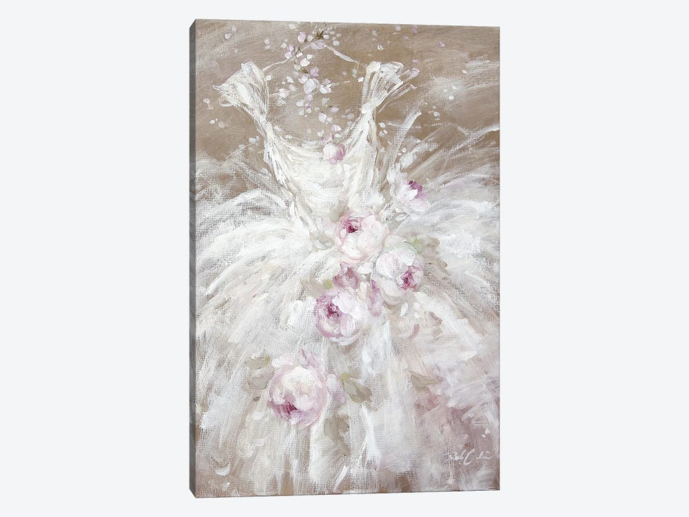 Tutu In White With Roses by Debi Coules 1-piece Canvas Art
