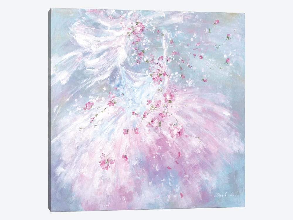 Whispering Rosebuds Tutu I by Debi Coules 1-piece Canvas Artwork