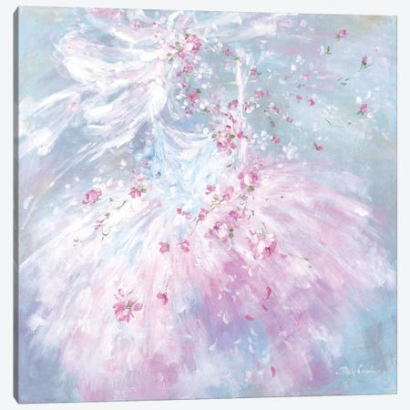 Whispering Rosebuds Tutu I 3-Piece Canvas #DEB135} by Debi Coules Canvas Art Print