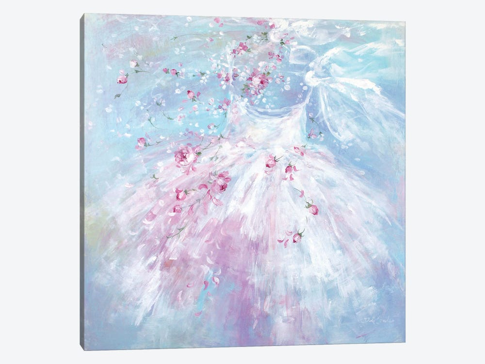 Whispering Rosebuds Tutu II by Debi Coules 1-piece Canvas Print