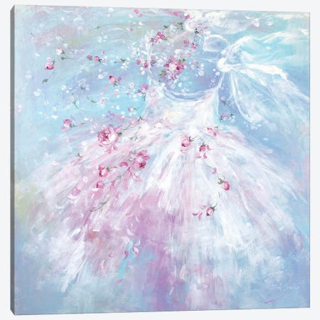 Whispering Rosebuds Tutu II 3-Piece Canvas #DEB136} by Debi Coules Canvas Print