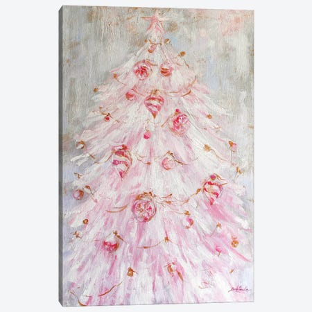 A Pink Christmas Canvas Print #DEB138} by Debi Coules Canvas Wall Art
