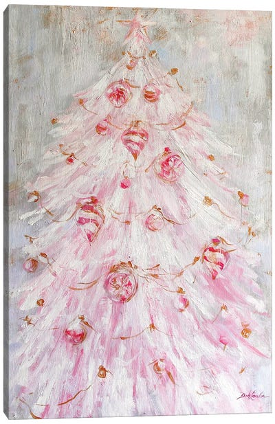 A Pink Christmas Canvas Art Print