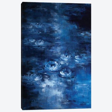 Moonlight Lilies Canvas Print #DEB142} by Debi Coules Art Print