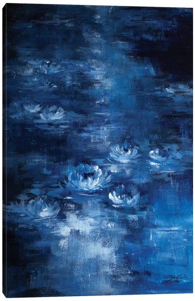 Moonlight Lilies Canvas Art Print