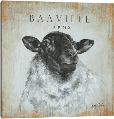 BaaVille Farms Canvas Art Print