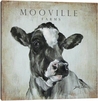 MooVille Farms Canvas Art Print