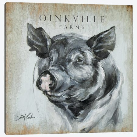 OinkVille Farms Canvas Print #DEB145} by Debi Coules Canvas Art