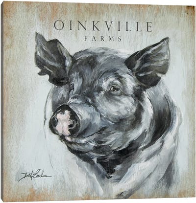 OinkVille Farms Canvas Art Print