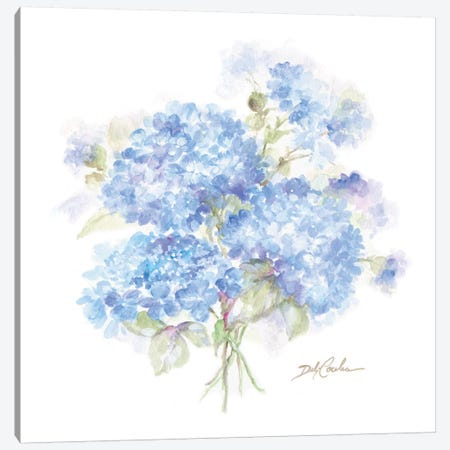 Hydrangeas II Canvas Print #DEB150} by Debi Coules Canvas Art
